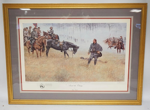 DALE GALLON PENCIL SIGNED AND NUMBERED CIVIL WAR SCENE PRINT TITLED *SOUND THE C