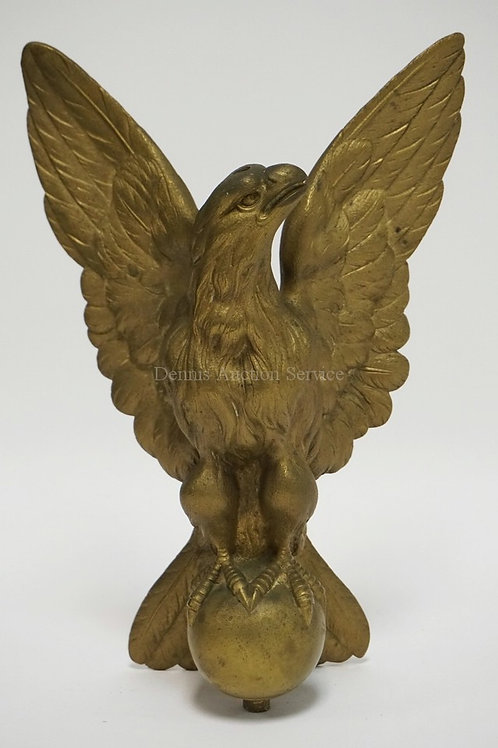 BRONZE SCULPTRURE OF AN EAGLE  WITH NICELY DETAILED FEATHERS. 12 3/4 INCHES HIGH