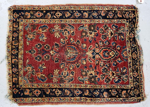 SMALL ORIENTAL RUG MEASURING 2 FT 8 X 2 FT.
