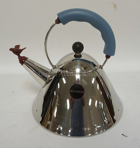 ALESSI TEA POT DESIGNED BY MICHAEL GRAVES. 9 IN H.