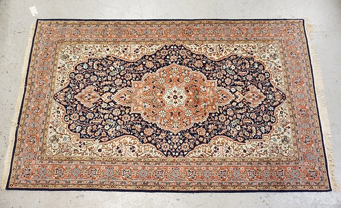 HAND WOVEN ORIENTAL RUG MEASURING 4 FT 4 INCHES X 7 FT 2 INCHES.