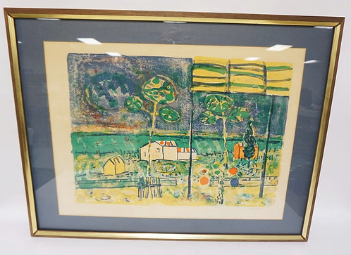 PAUL AIZPIRI PENCIL SIGNED & NUMBERED 8/250 LITHOGRAPH TITLED *LA BAIE DE SAINT