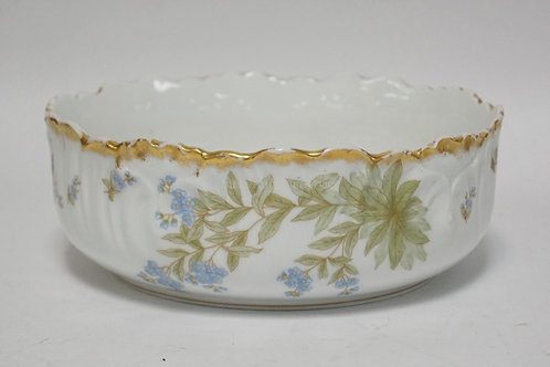 ELITE LIMOGES PORCELAIN BOWL MEASURING 9 1/4 INCHES IN DIA AND 3 1/4 INCHES HIGH