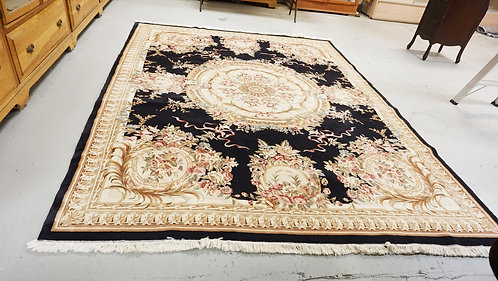 ROOM SIZE ORIENTAL RUG WITH A MEDALLION CENTER. 11 FT 8 X 8 FT 8 INCHES.