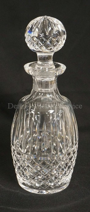 WATERFORD CRYSTAL DECANTER WITH STOPPER. 10 1/4 INCHES HIGH.