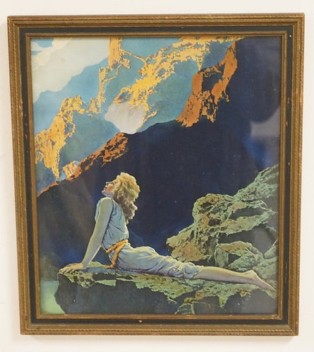 MAXFIELD PARRISH WILD GEESE. ORIGINAL PRINT AND FRAME. 11 � X 13 �  IN