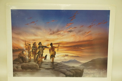 DONALD VANN PENCIL SIGNED LIMITED EDITION PRINT OF NATIVE AMERICAN INDIANS. TITL
