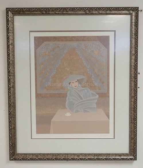 PENCIL SIGNED AND LIMITED EDITION PRINT #144/300. PROFESSIONALLY FRAMED AND MATT