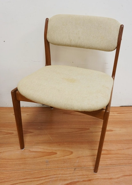 BENNY LINDEN DESIGN MID CENTURY MODERN CHAIR WITH UPHOLSTERED SEAT AND BACK., 19