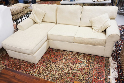 ETHAN ALLEN SOFA WITH CHAISE SECTION.