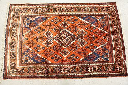 1006_HAND WOVEN ORIENTAL RUG MEASURING 6 FT 10 X 4 FT 5 INCHES.