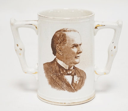 WILLIAM MCKINLEY & WILLIAM JENNING BRYAN *BARTENDER'S FRIEND* MUG. DISTRIBUTED B
