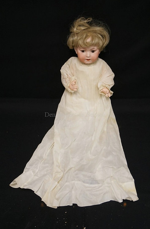 15 INCH PORZELLANFABRIK MENGERSGEREUTH PM 914 BISQUE HEAD BABY DOLL, COMPOSITION