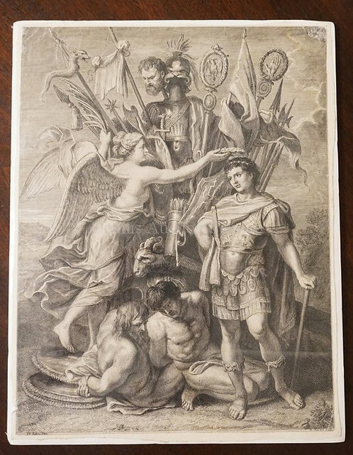 NICOLAS TARDIEU ENGRAVING AFTER A PAINTING BY PETER PAUL RUBENS. 9 1/4 X 12 1/4.