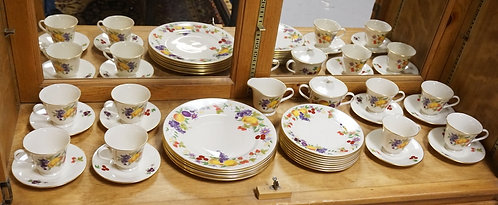 32 PIECE LENOX *SPECIAL* DINNERWARE WITH A COLORFUL FRUIT PATTERN.