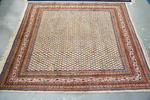 HAND WOVEN AREA RUG MEASURING 8 FT 3 INCHES BY 7 FT.