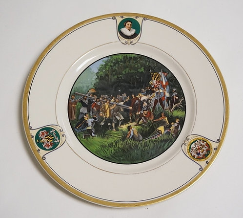 1114_ONONDAGE POTTERY CO *COLONY OF MARYLAND* PLATE MADE FOR THE LORN BALTIMORE