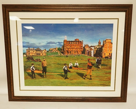 A.L. LAWRENCE PRINT TITLED *ST ANDREWS - THE ROAD HOLE*. LIMITED EDITION #570/75