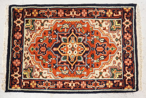 1010_HAND WOVEN ORIENTAL RUG MEASURING 2 FT 11 X 2 FT.