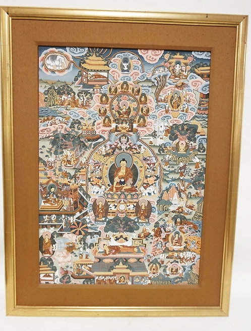 ASIAN PRINT WITH MANY FIGURES. 20 1/4 X 29 1/4 INCHES.