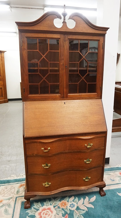 SECRETARY DESK MEASURING 72 INCHES HIGH AND 30 1/2 INCHES WIDE.
