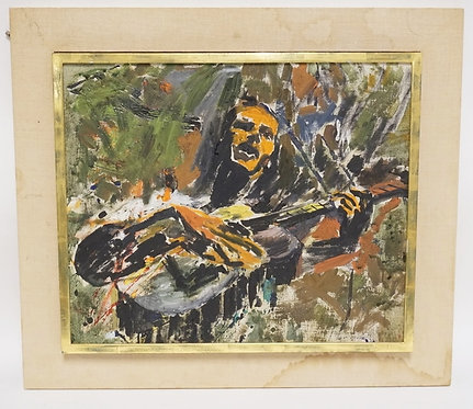1202_STIRLING SPADEA (BUCKS COUNTY PA, 1927-2010) OIL PAINTING ON CANVAS OF *JAY