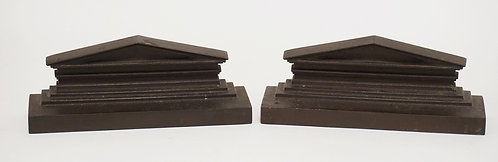 PAIR OF BRADLEY & HUBBARD CAST IRON BOOKENDS MEASURING 8 5/8 INCHES LONG AND 3 1