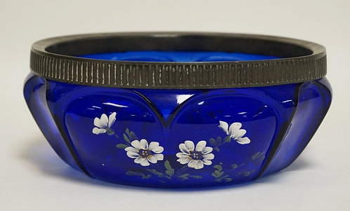 1211_CONSOLIDATED *OPEN HEART ARCHES* ART GLASS MASTER BERRY BOWL WITH HAND PAIN