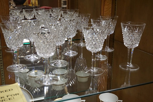 12 WATERFORD GOBLETS. 5 3/4 INCHES HIGH.