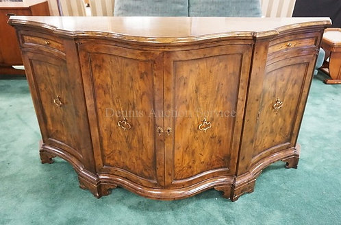 BAKER FURNITURE CREDENZA WITH A BOWED FRONT AND PANELED DOORS. 67 INCHES WIDE. 3
