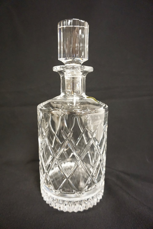 SIGNED WATERFORD CUT CRYSTAL DECANTER. 10 3/4 IN H
