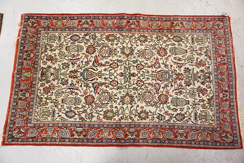 1002_HAND WOVEN ORIENTAL RUG MEASURING 7 FT 7 X 4 FT 7 INCHES.