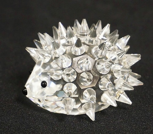 SWAROVSKI CRYSTAL FIGURE OF A PORCUPINE/HEDGEHOG. 2 3/4 INCHES LONG. COMES WITH