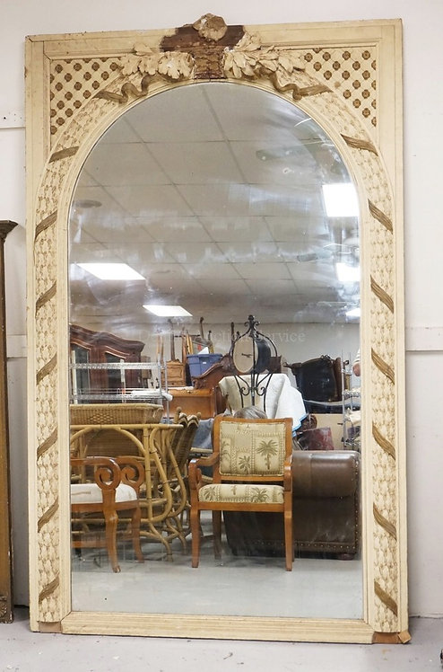 LARGE PIER MIRROR WITH ORNATE GESSO DECORATIONS. HAS LOSSES. 57 X 90 1/2 INCHES.