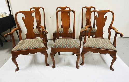 SET OF 6 KITTINGER DINING CHAIRS.