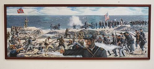 ROD WITMER *ASSAULT ON FORT FISHER*. 1994. 65 X 23 1/4 INCHES.