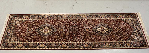 ORIENTAL RUNNER MEASURING 9 FT X 2 FT 7 INCHES.