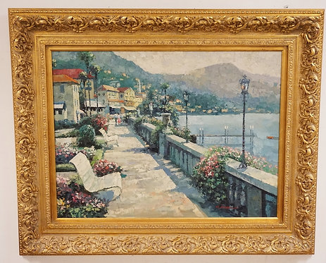 OIL PAINTING ON CANVAS SIGNED M. PATERSON LOWER RIGHT. 39 1/2 X 29 1/2 INCH SIGH