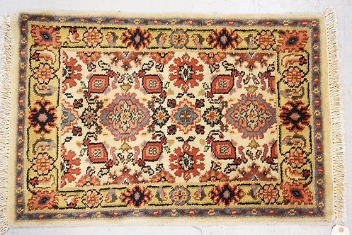 1011_HAND WOVEN ORIENTAL RUG MEASURING 2 FT 11 INCHES X 1 FT 11 INCHES.