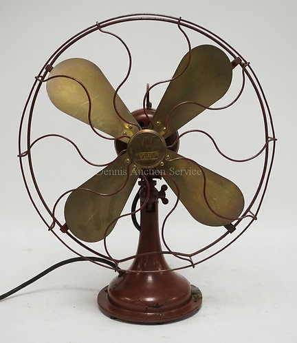 VINTAGE WESTINGHOUSE ELECTRIC FAN WITH BRASS BLADES. 17 INCH DIA.