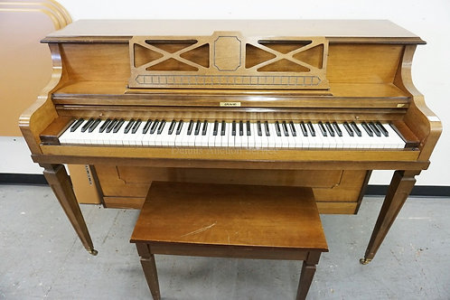 *GRAND* UPRIGHT PIANO. 57 1/2 INCHES WIDE. 38 INCHES HIGH.