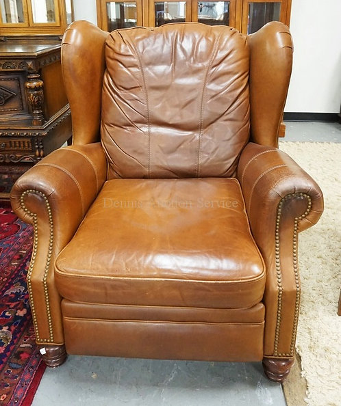 LEATHER RECLINER. HAS SOME WEAR.