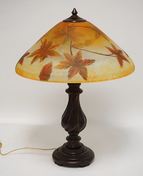 REVERSE PAINTED TABLE LAMP. CONTEMPORARY. 24 INCHES HIGH.