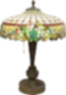 Antique Leaded Glass Lamp at Dennis Estate Sale Auctions