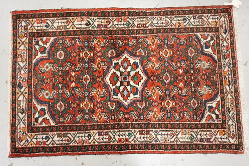 1009_HAND WOVEN ORIENTAL RUG MEASURING 5 FT 3 INCHES X 3 FT 5 INCHES.