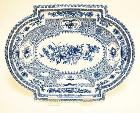 MOTTAHEDEH PORCELAIN REPRODUCTION OF A RARE CHINESE EXPORT COVERED DISH CA 1740.
