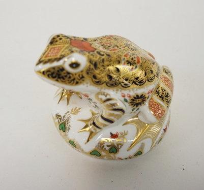 ROYAL CROWN DERBY *OLD IMARI FROG*. LIM ED #1591 OF 4,500. 3 IN H, ARTIST SIGNED
