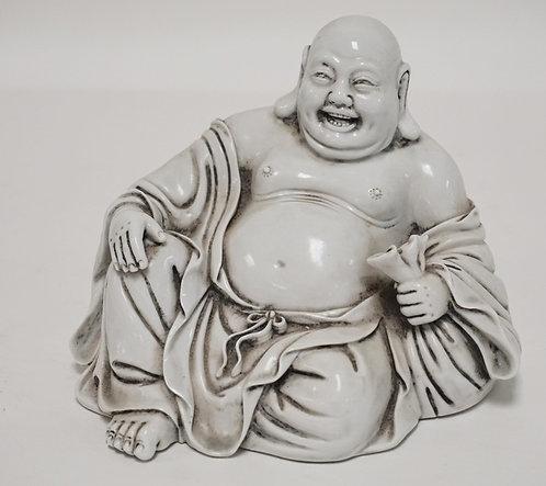 ASIAN PORCELAIN SMILING BUDDHA. 5 IN H