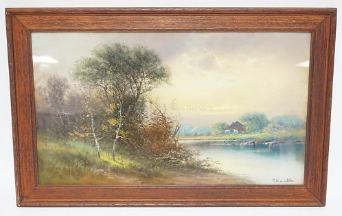VERY FINE PASTEL DRAWING BY WILLIAM CHANDLER. SIGNED LOWER RIGHT. 27 1/2 X 17 1/