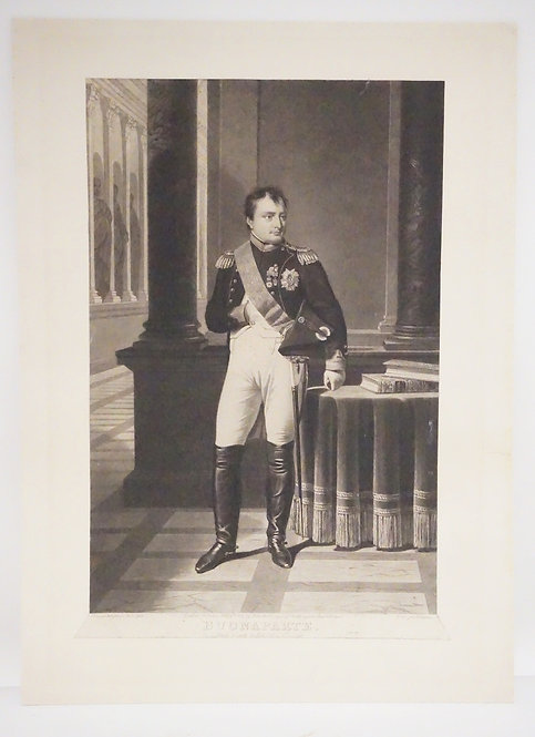 T. LUPTON ETCHING OF NAPOLEON TITLED *BUONAPARTE*. 10 3/4 X 16 1/8 INCHES. TRIMM